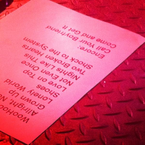 Eli Paperboy Reed Setlist